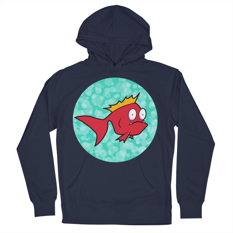 Concerned fish Women's French Terry Pullover Hoody by Mightywombat's Artist Shop