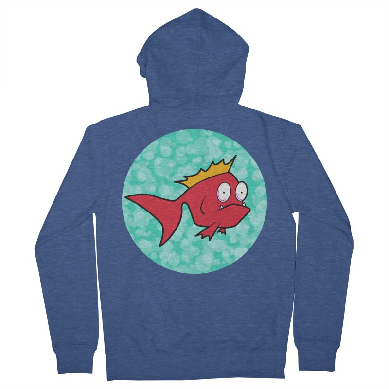 Concerned fish Men's Zip-Up Hoody by Mightywombat's Artist Shop