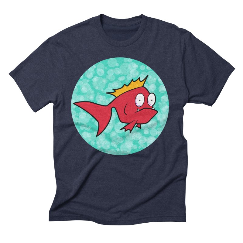Concerned fish Men's Triblend T-Shirt by Mightywombat's Artist Shop