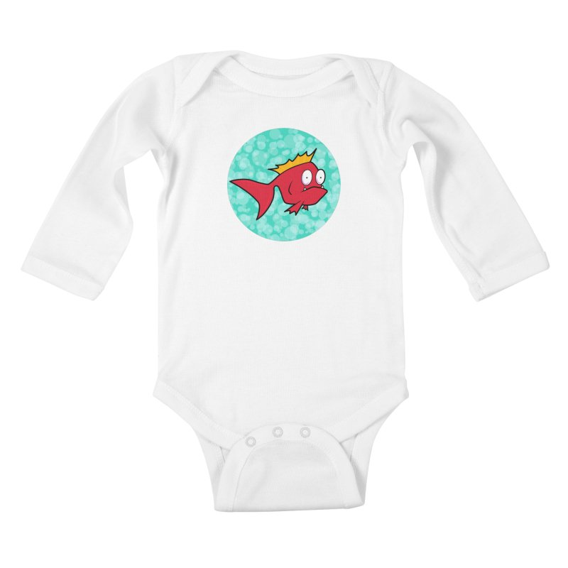 Concerned fish Kids Baby Longsleeve Bodysuit by mightywombat's Artist Shop