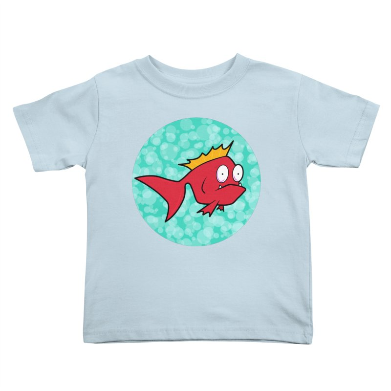 Concerned fish Kids Toddler T-Shirt by Mightywombat's Artist Shop