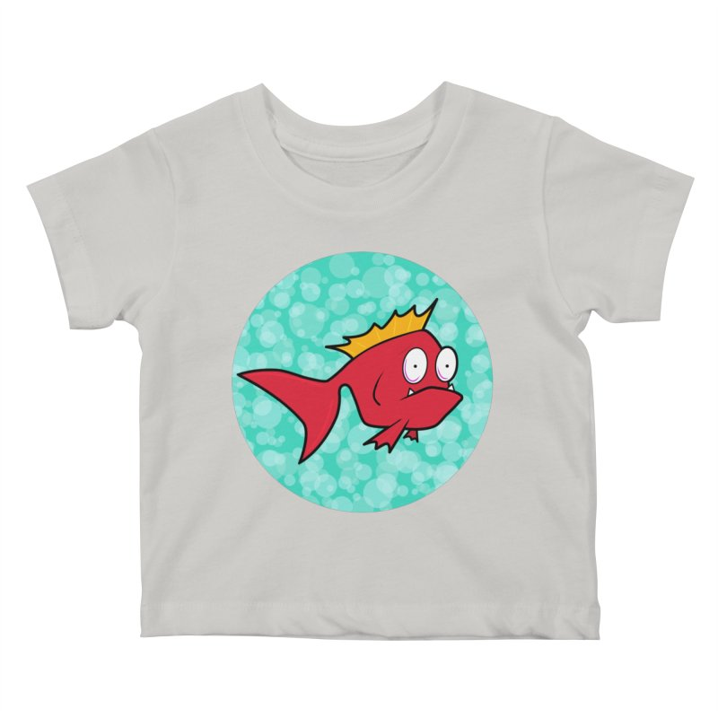 Concerned fish Kids Baby T-Shirt by Mightywombat's Artist Shop