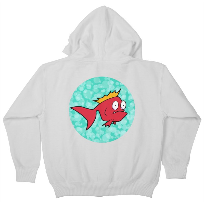 Concerned fish Kids Zip-Up Hoody by Mightywombat's Artist Shop