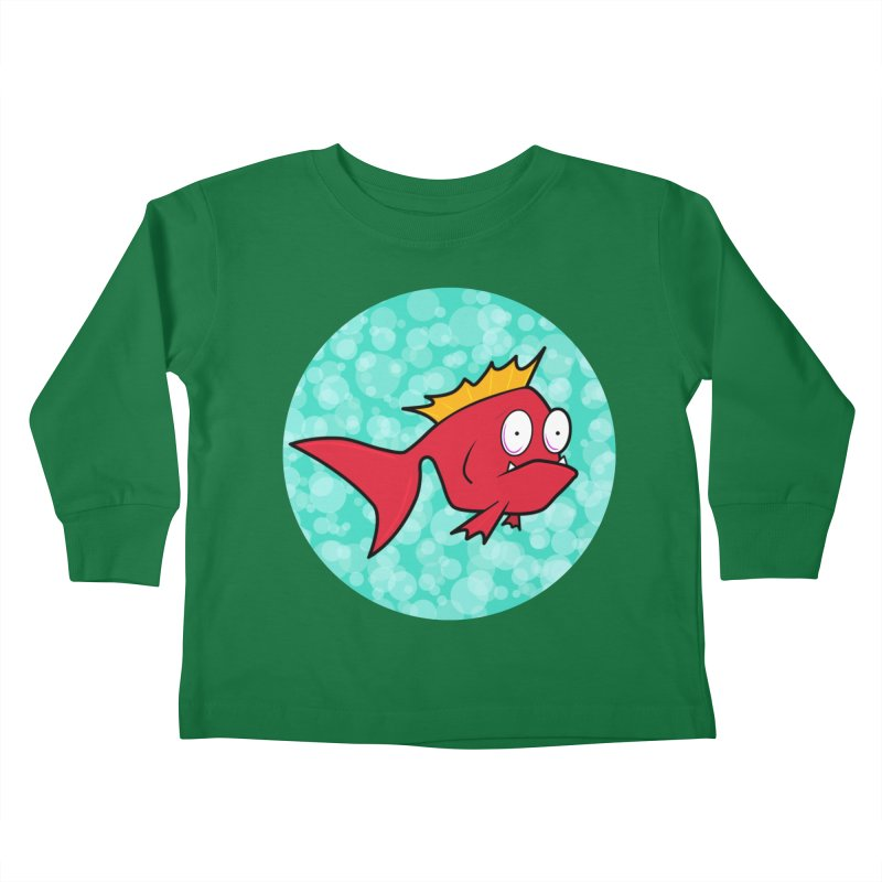 Concerned fish Kids Toddler Longsleeve T-Shirt by Mightywombat's Artist Shop