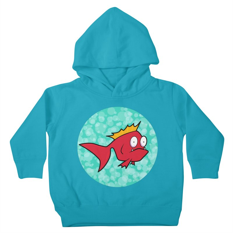 Concerned fish Kids Toddler Pullover Hoody by Mightywombat's Artist Shop