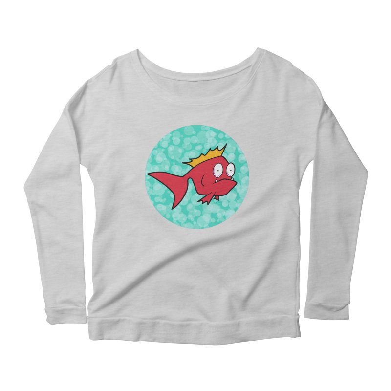 Concerned fish Women's Longsleeve Scoopneck  by Mightywombat's Artist Shop