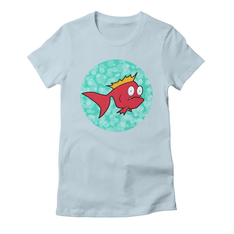 Concerned fish Women's Fitted T-Shirt by mightywombat's Artist Shop
