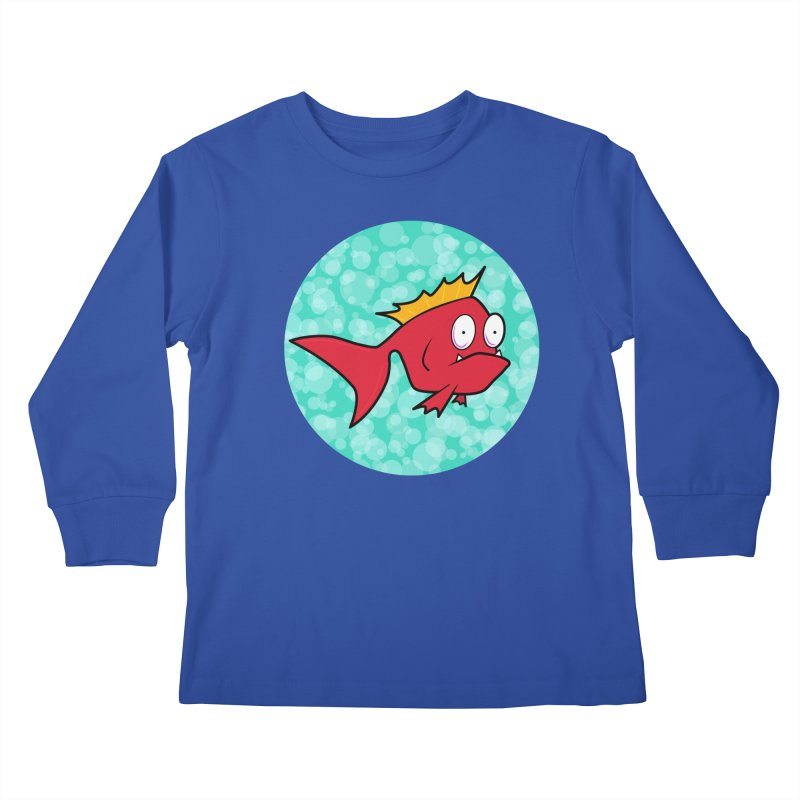 Concerned fish Kids Longsleeve T-Shirt by mightywombat's Artist Shop