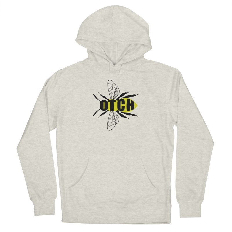 Beeotch in Women's French Terry Pullover Hoody Heather Oatmeal by Mightywombat's Artist Shop