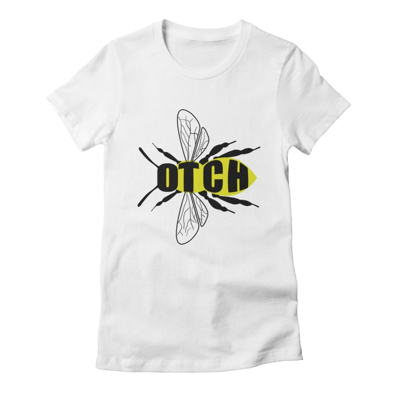 Beeotch Women's Fitted T-Shirt by mightywombat's Artist Shop