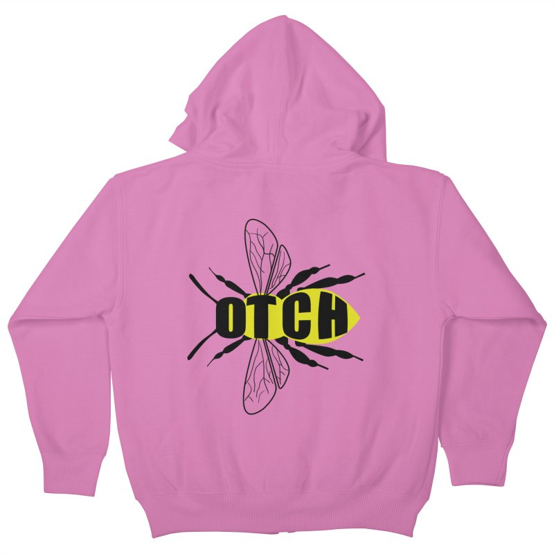 Beeotch Kids Zip-Up Hoody by mightywombat's Artist Shop