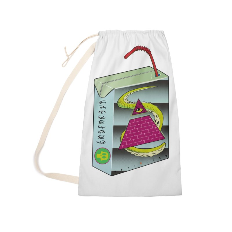 Illuminati Juice Box Accessories Laundry Bag Bag by Mightywombat's Artist Shop