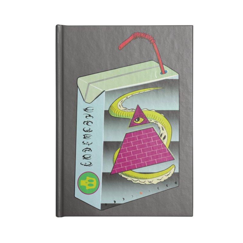 Illuminati Juice Box Accessories Notebook by Mightywombat's Artist Shop