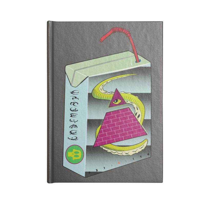 Illuminati Juice Box Accessories Lined Journal Notebook by Mightywombat's Artist Shop