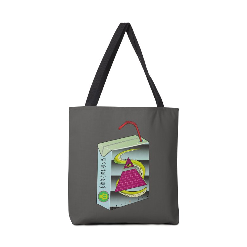 Illuminati Juice Box Accessories Tote Bag Bag by Mightywombat's Artist Shop