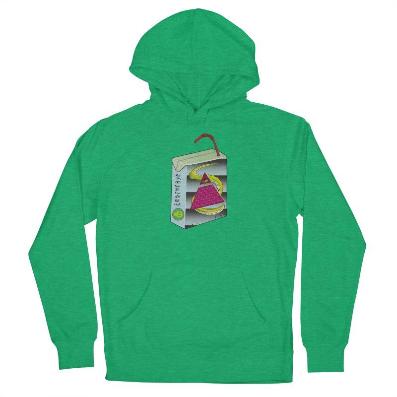 Illuminati Juice Box Men's French Terry Pullover Hoody by Mightywombat's Artist Shop