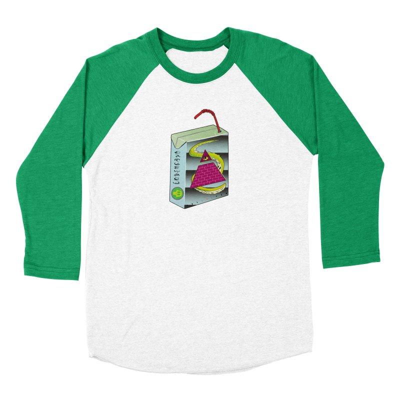 Illuminati Juice Box Men's Baseball Triblend Longsleeve T-Shirt by Mightywombat's Artist Shop