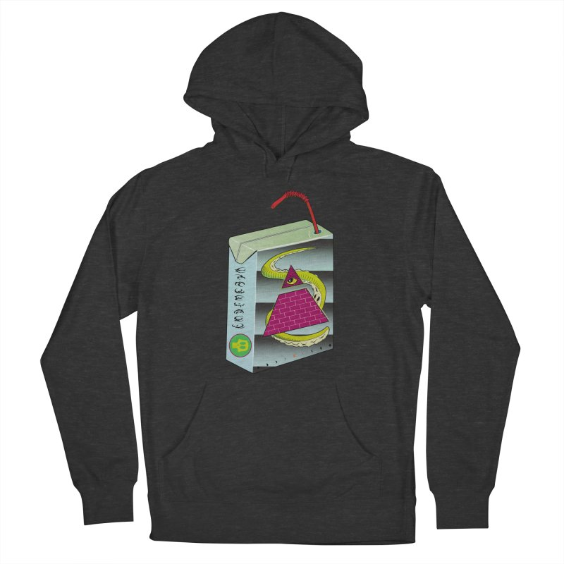 Illuminati Juice Box Women's French Terry Pullover Hoody by Mightywombat's Artist Shop