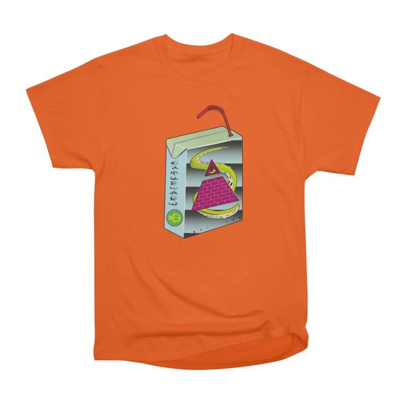 Illuminati Juice Box Women's Heavyweight Unisex T-Shirt by Mightywombat's Artist Shop