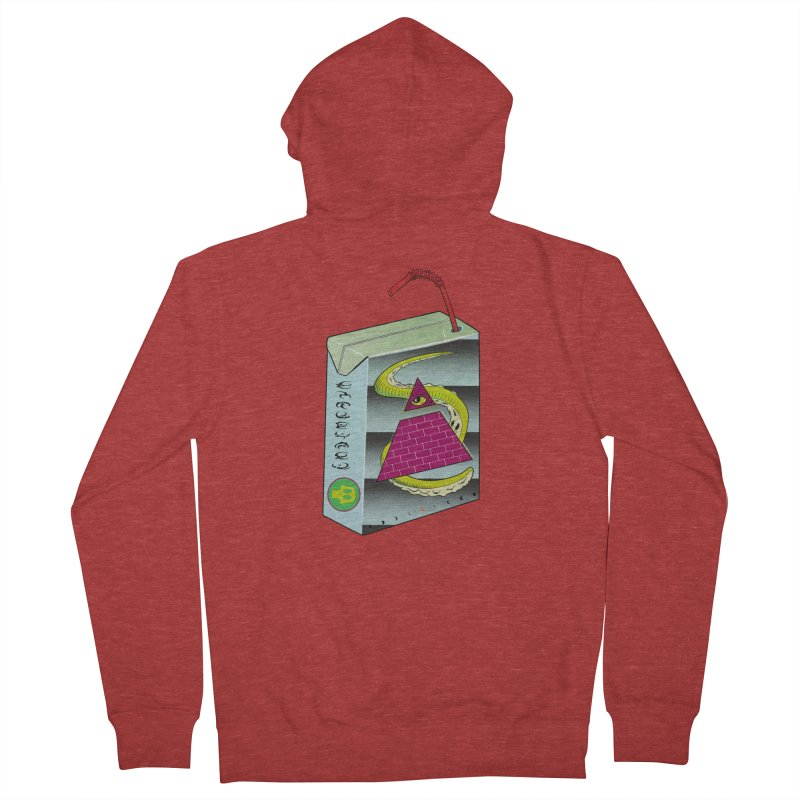 Illuminati Juice Box Women's Zip-Up Hoody by Mightywombat's Artist Shop