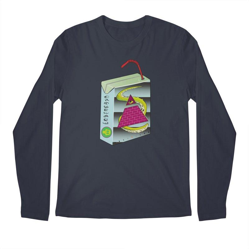 Illuminati Juice Box Men's Regular Longsleeve T-Shirt by Mightywombat's Artist Shop