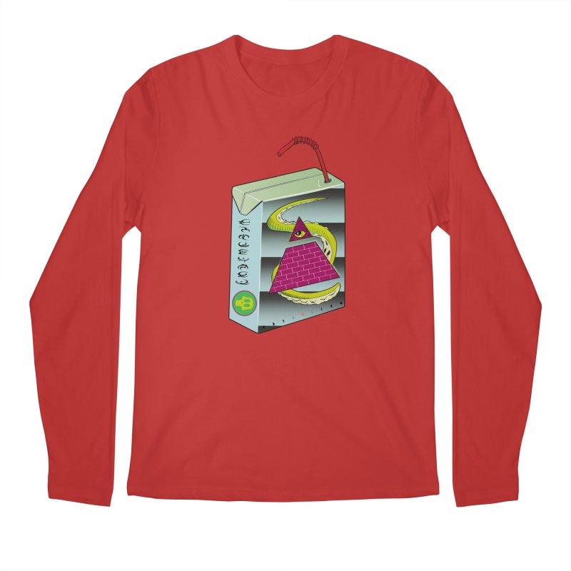 Illuminati Juice Box Men's Longsleeve T-Shirt by Mightywombat's Artist Shop