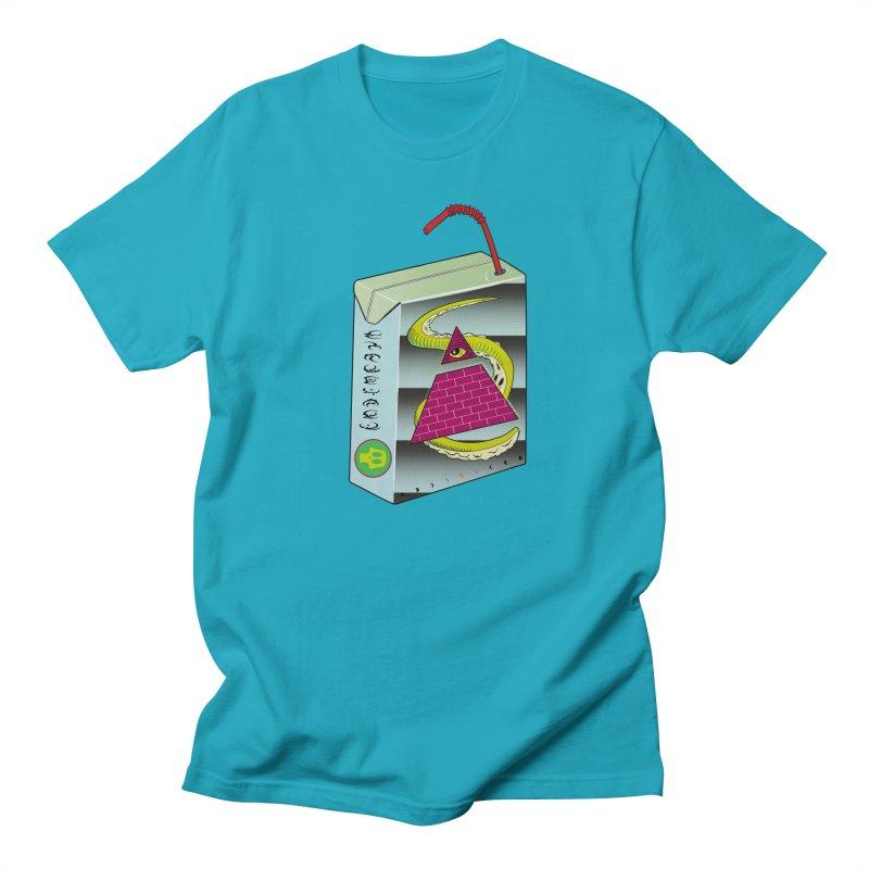Illuminati Juice Box Men's Regular T-Shirt by Mightywombat's Artist Shop