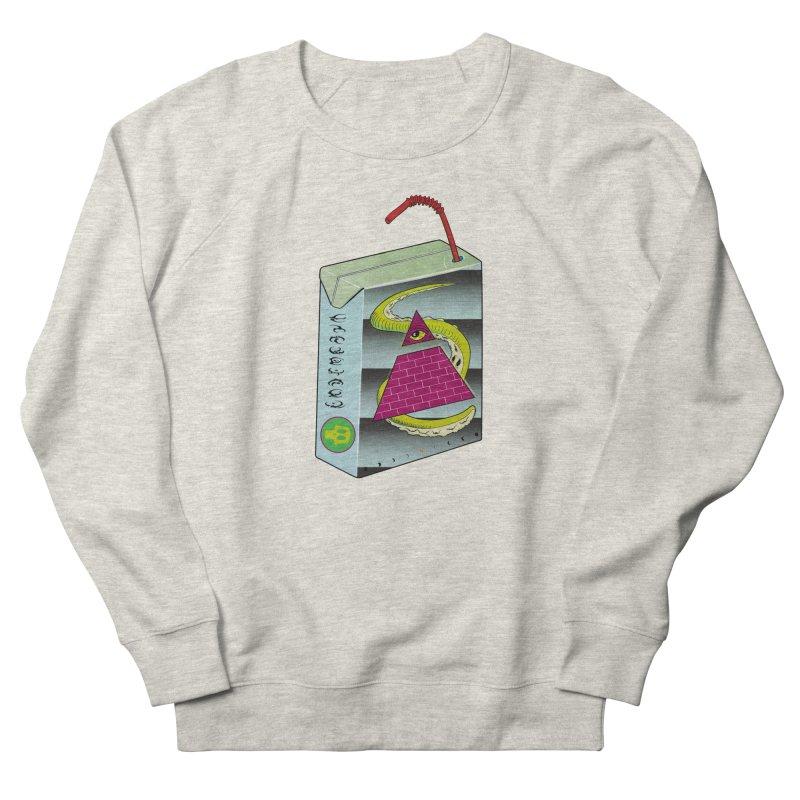 Illuminati Juice Box Men's French Terry Sweatshirt by Mightywombat's Artist Shop