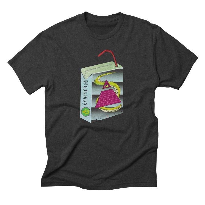 Illuminati Juice Box Men's Triblend T-Shirt by Mightywombat's Artist Shop