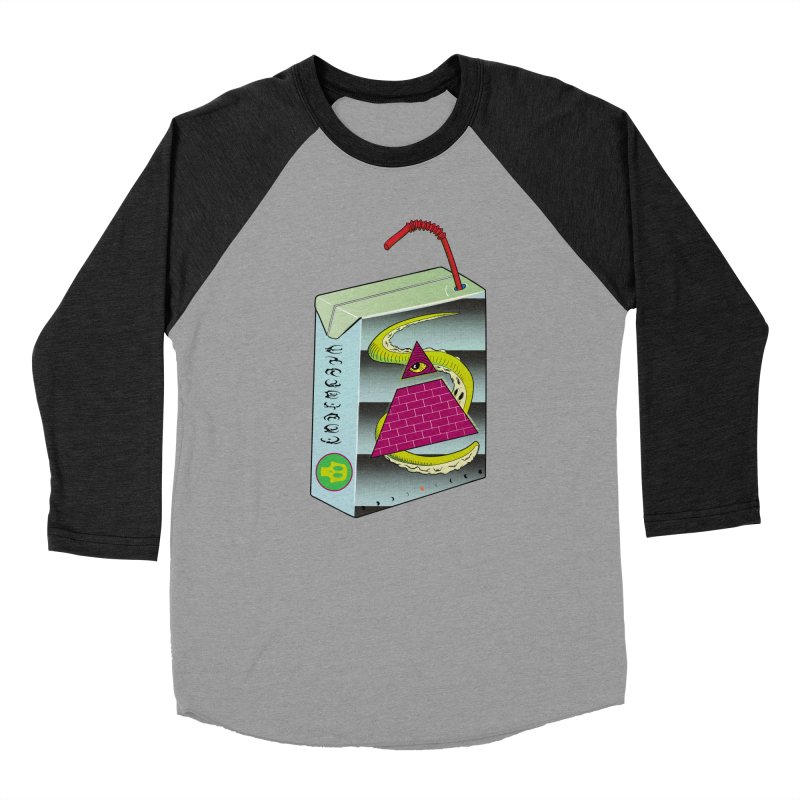 Illuminati Juice Box Women's Baseball Triblend T-Shirt by Mightywombat's Artist Shop