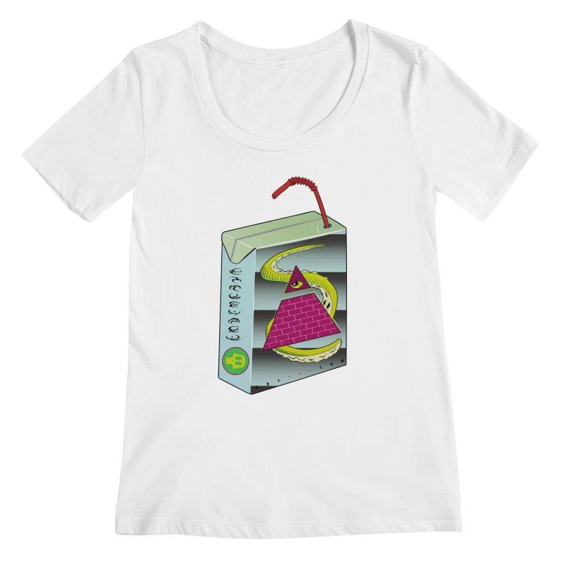 Illuminati Juice Box Women's Scoopneck by Mightywombat's Artist Shop