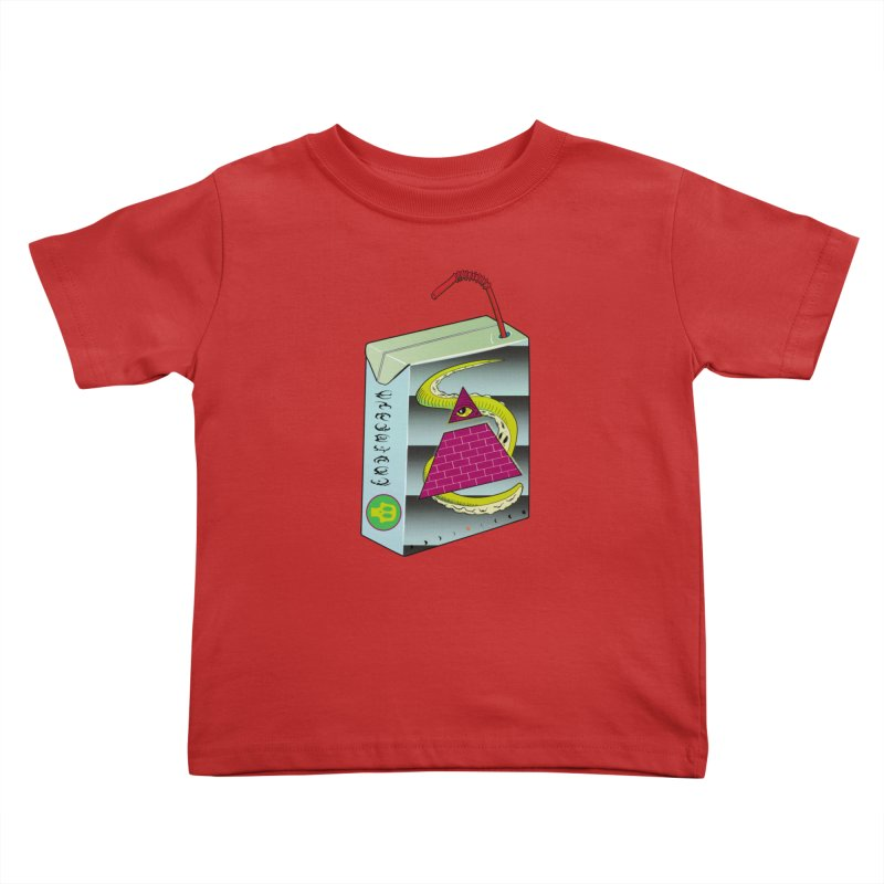 Illuminati Juice Box Kids Toddler T-Shirt by Mightywombat's Artist Shop