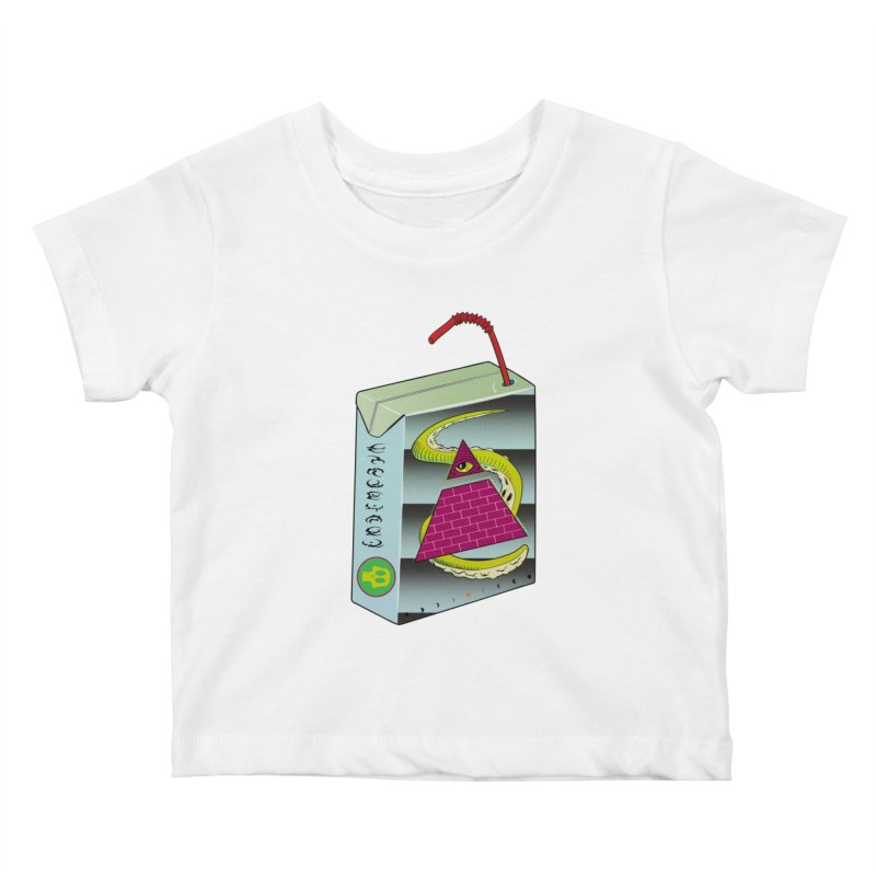 Illuminati Juice Box Kids Baby T-Shirt by Mightywombat's Artist Shop