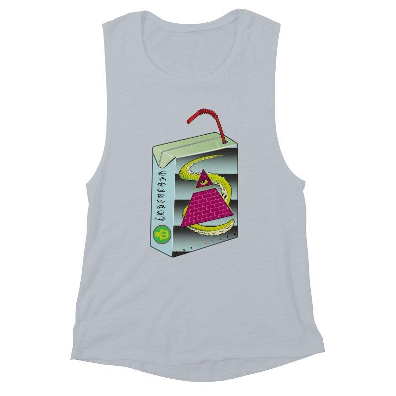 Illuminati Juice Box Women's Muscle Tank by Mightywombat's Artist Shop