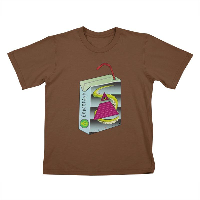 Illuminati Juice Box Kids T-Shirt by Mightywombat's Artist Shop