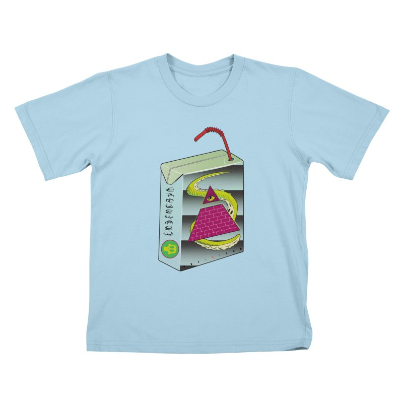 Illuminati Juice Box Kids T-Shirt by Mightywombat's Artist Shop