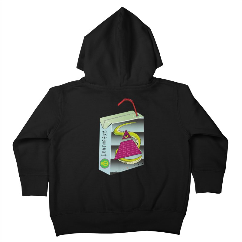 Illuminati Juice Box Kids Toddler Zip-Up Hoody by Mightywombat's Artist Shop