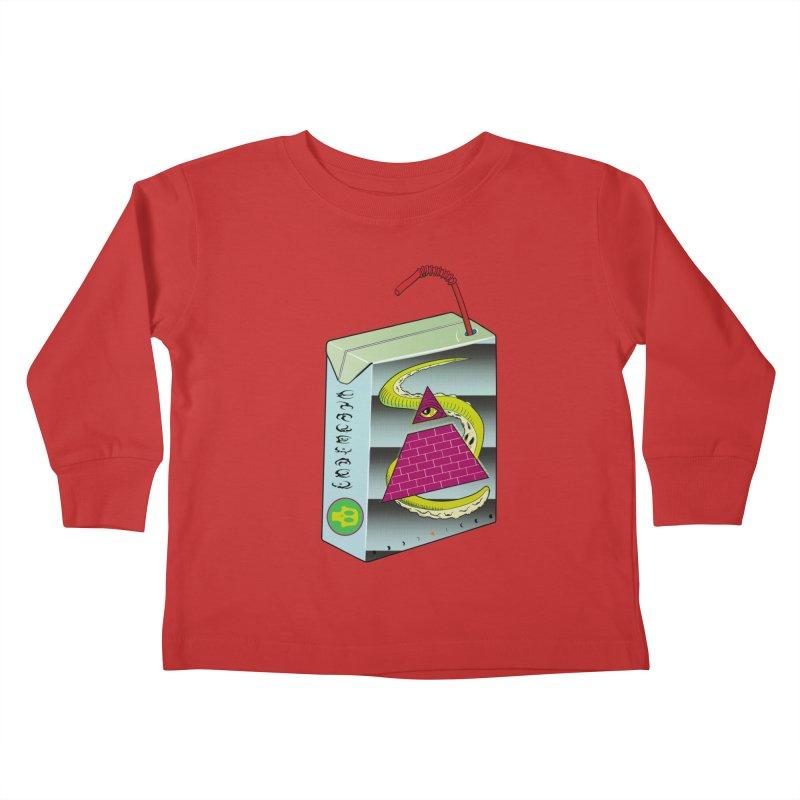 Illuminati Juice Box Kids Toddler Longsleeve T-Shirt by Mightywombat's Artist Shop