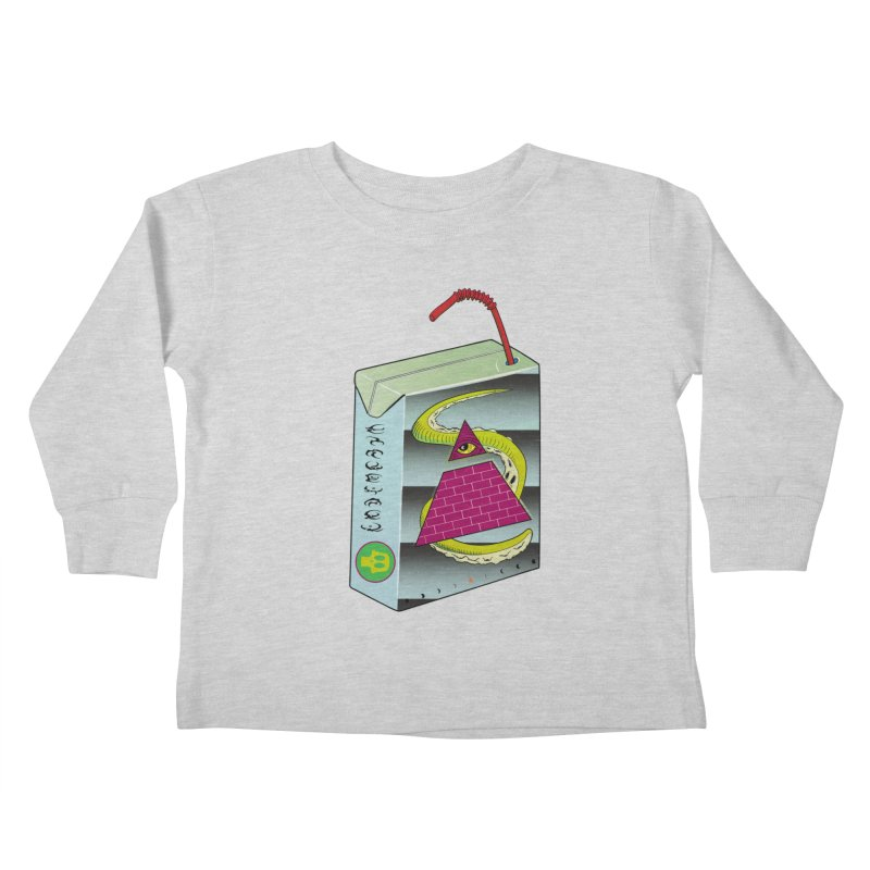 Illuminati Juice Box Kids Toddler Longsleeve T-Shirt by Mightywombat's Artist Shop