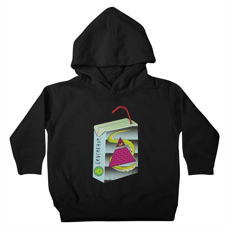 Illuminati Juice Box Kids Toddler Pullover Hoody by Mightywombat's Artist Shop
