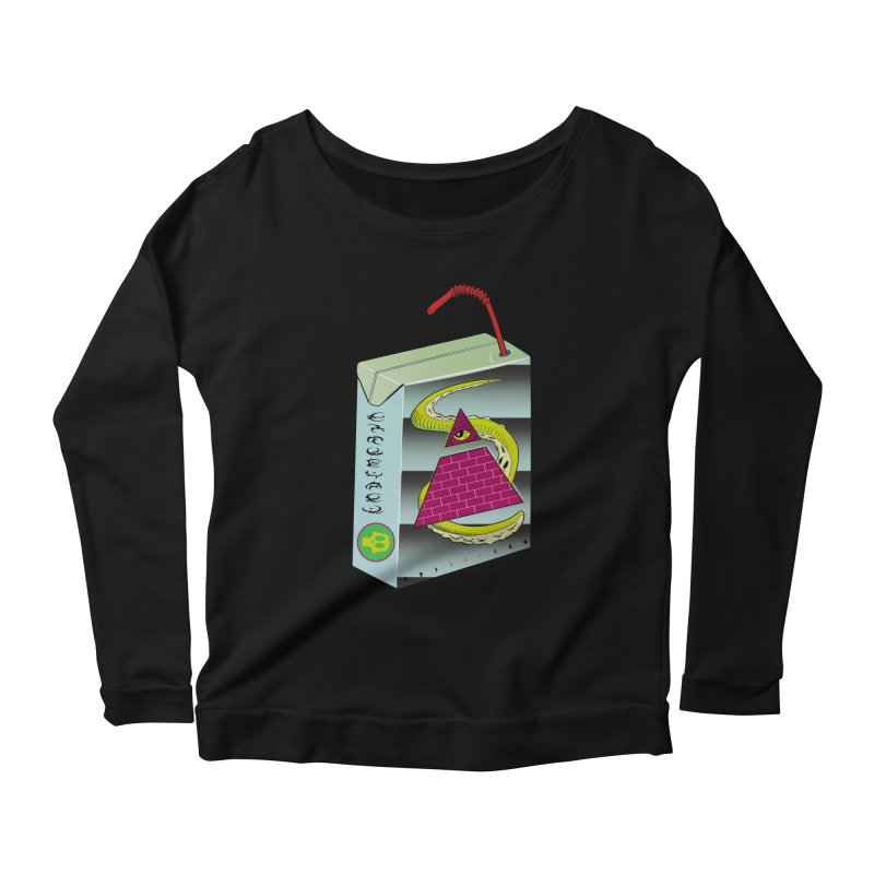 Illuminati Juice Box Women's Longsleeve Scoopneck  by Mightywombat's Artist Shop