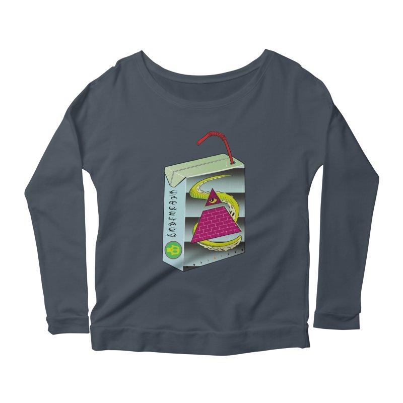 Illuminati Juice Box Women's Scoop Neck Longsleeve T-Shirt by Mightywombat's Artist Shop