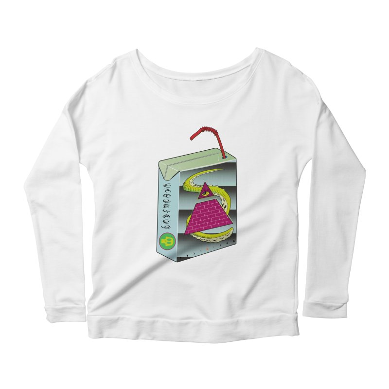 Illuminati Juice Box Women's Scoop Neck Longsleeve T-Shirt by Mightywombat's Artist Shop
