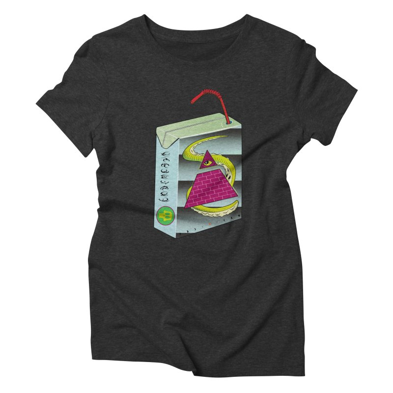 Illuminati Juice Box Women's Triblend T-Shirt by Mightywombat's Artist Shop