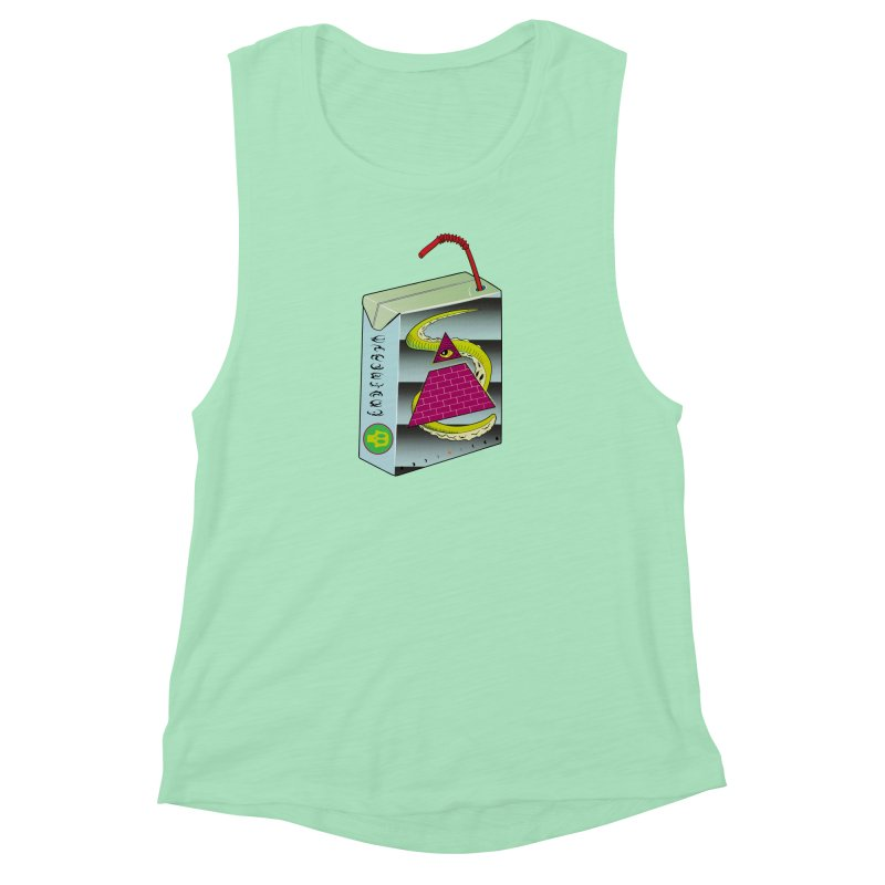 Illuminati Juice Box Women's Muscle Tank by Mightywombat's Artist Shop