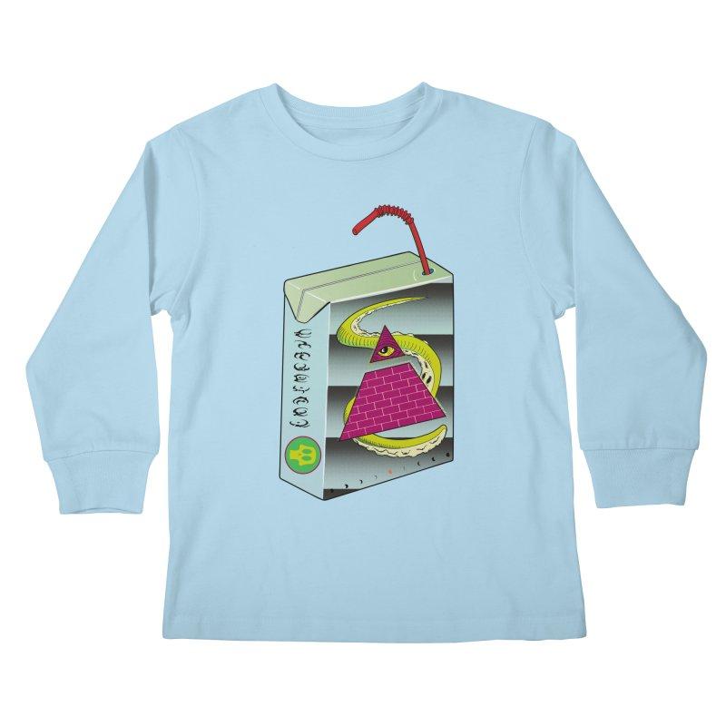 Illuminati Juice Box Kids Longsleeve T-Shirt by Mightywombat's Artist Shop