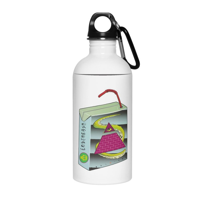 Illuminati Juice Box Accessories Water Bottle by Mightywombat's Artist Shop