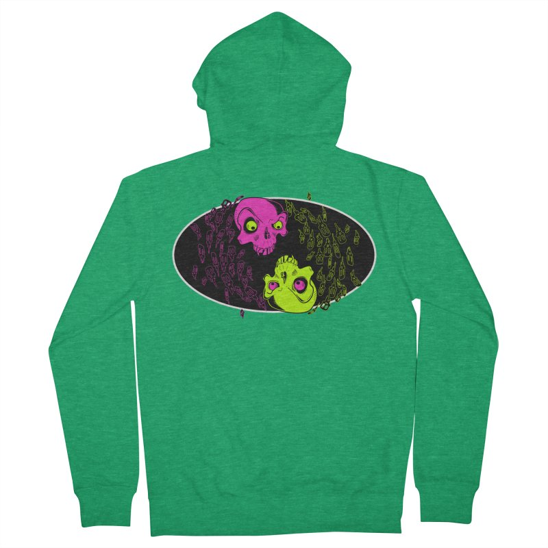 Two skulls (ok, it's a lot of skulls, but 2 big ones) Men's Zip-Up Hoody by Mightywombat's Artist Shop