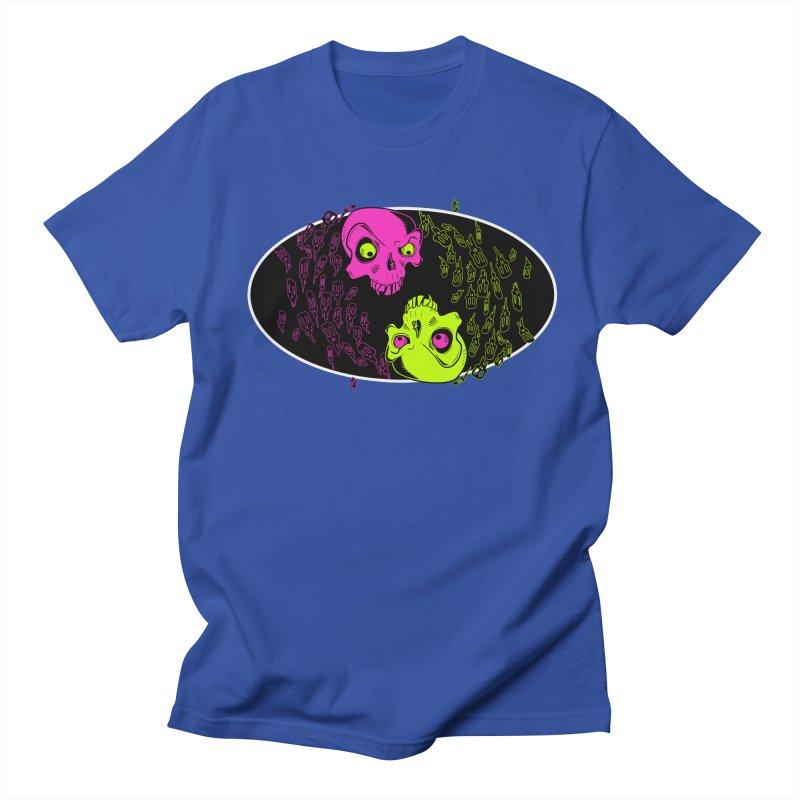 Two skulls (ok, it's a lot of skulls, but 2 big ones) Men's T-Shirt by Mightywombat's Artist Shop