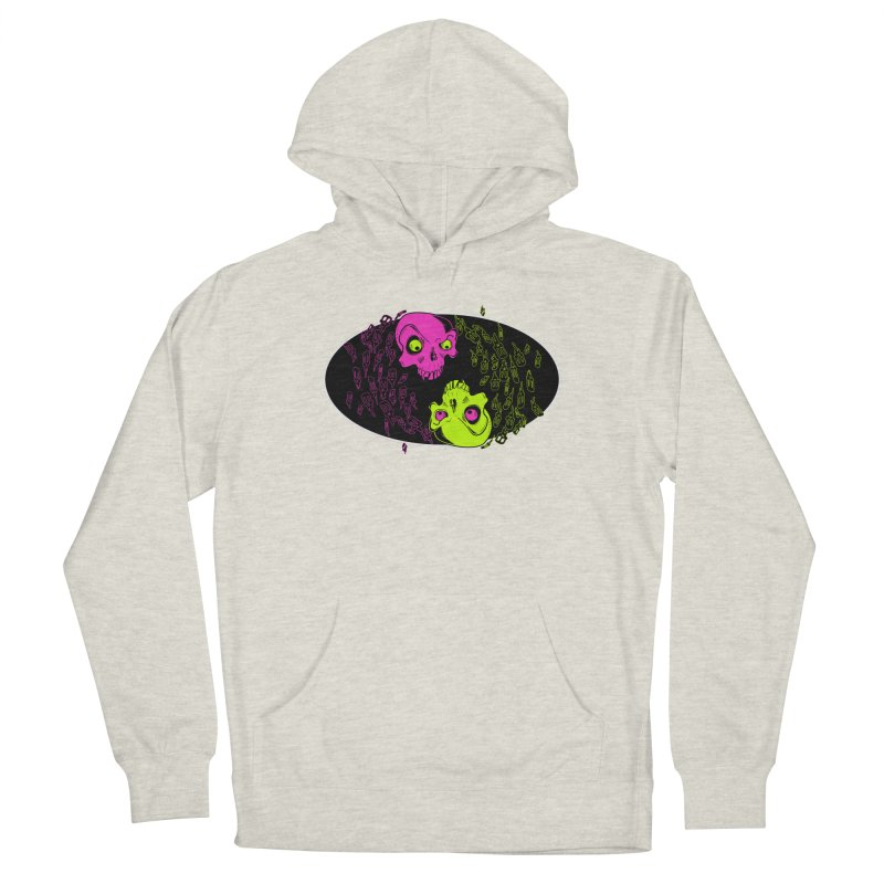 Two skulls (ok, it's a lot of skulls, but 2 big ones) Men's French Terry Pullover Hoody by Mightywombat's Artist Shop